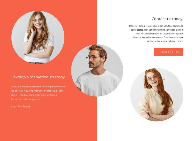 We are a great team HTML Template