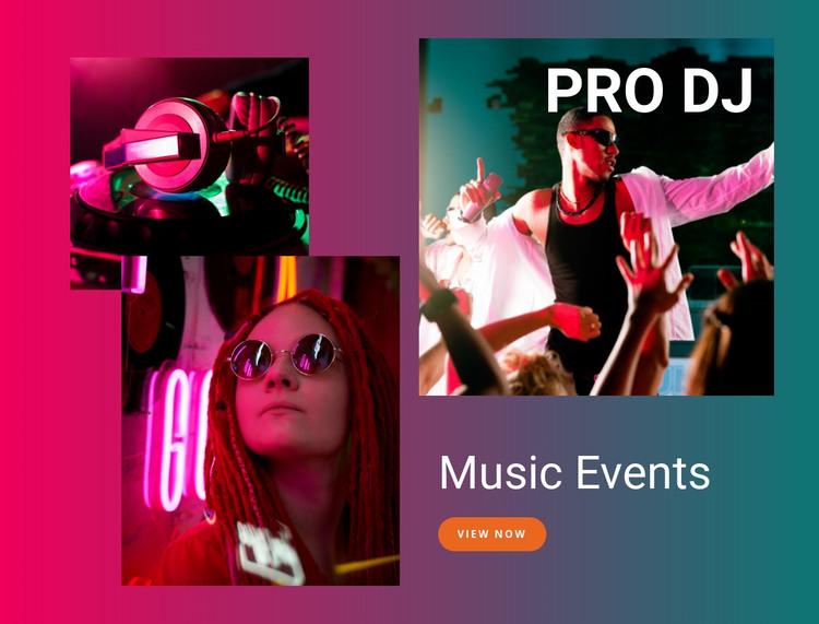 Music events Web Design