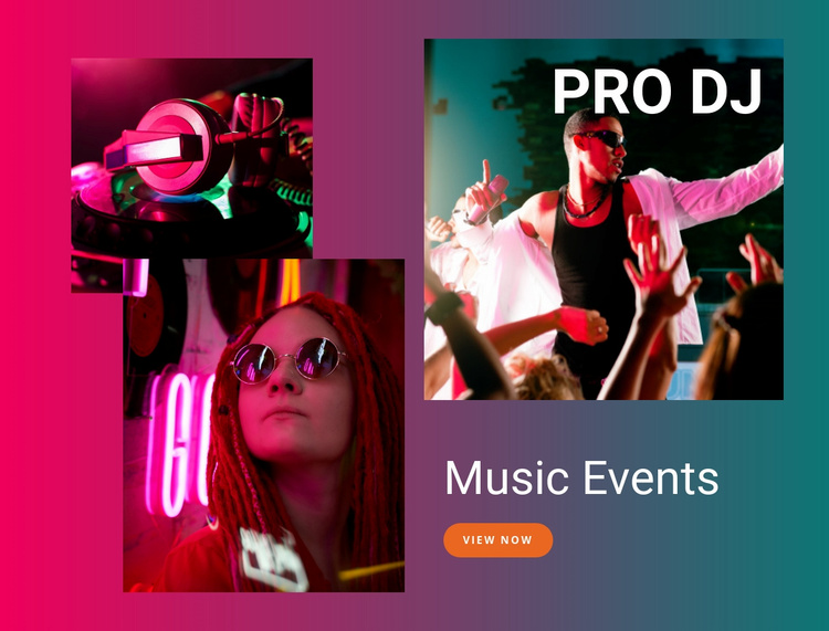Music events Landing Page