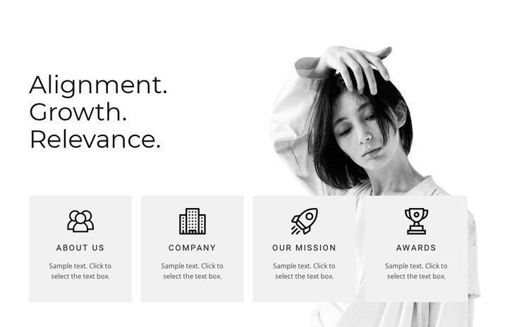 Four areas HTML Template