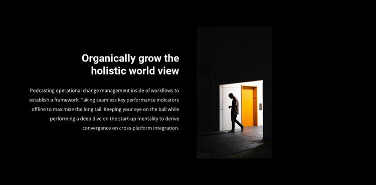 Open the door to success HTML Template