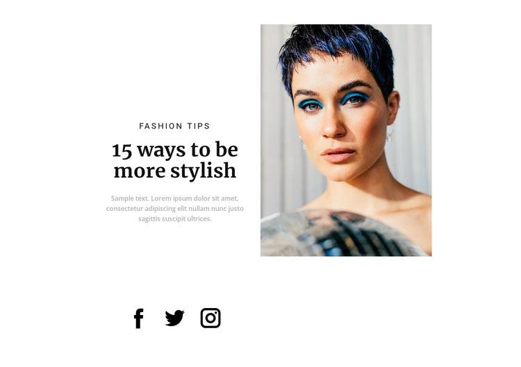 Fashion makeup trends Web Page Designer
