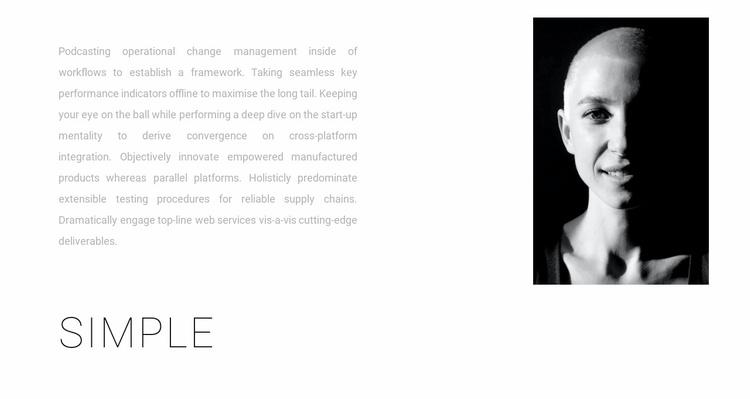 Simple design Website Template