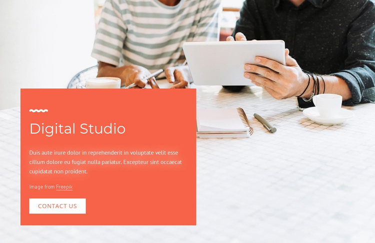 Brand and design agency Website Template