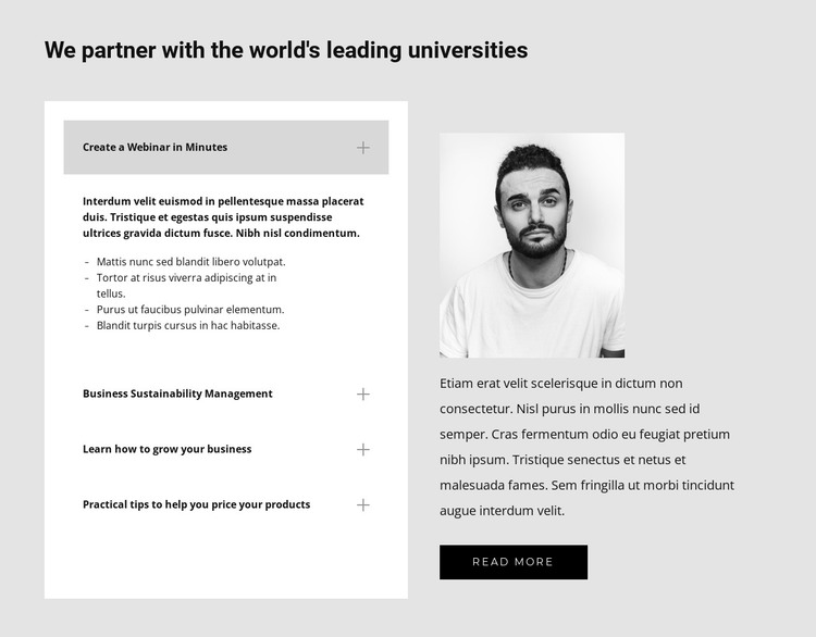 Find out about us HTML Template