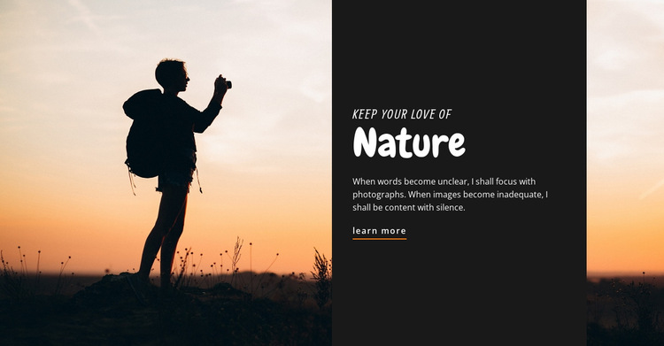 Keep your love of nature HTML5 Template