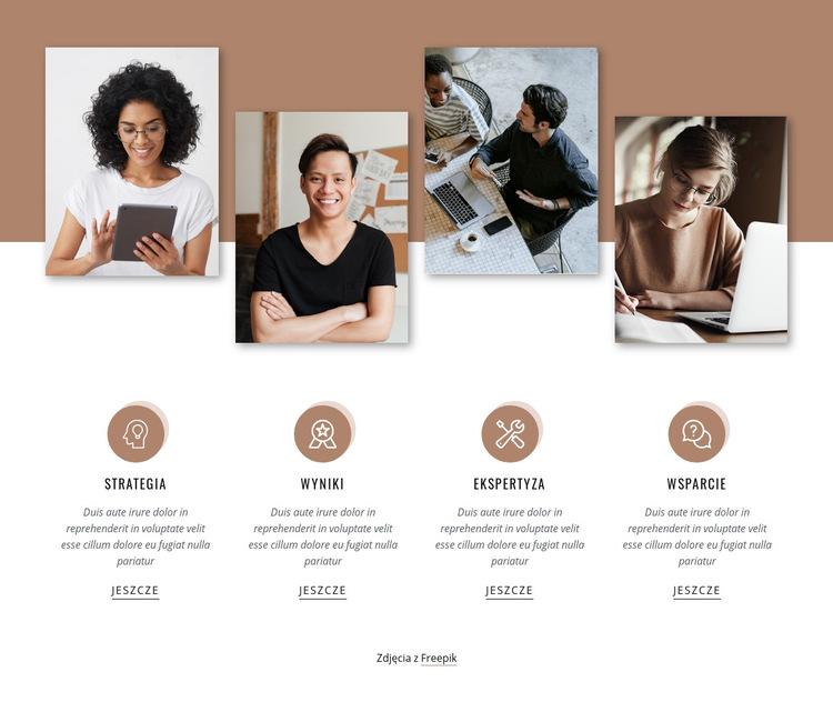 Funkcje z obrazami Szablon witryny sieci Web