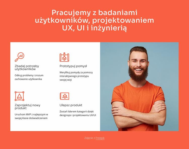 Współpracujemy z projektowaniem i inżynierią UX Szablon Joomla