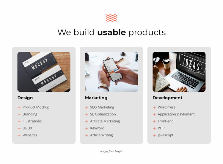 We build successful projects Website Mockup