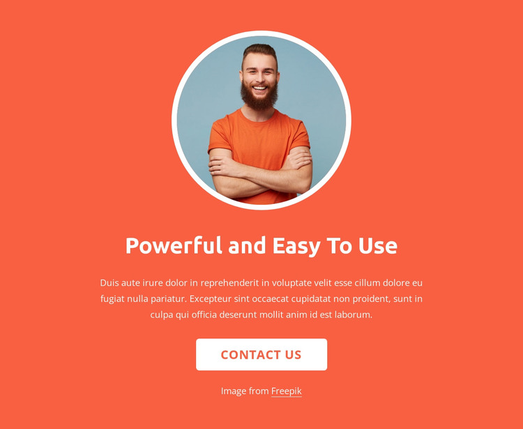 Strategy, design and development HTML Template