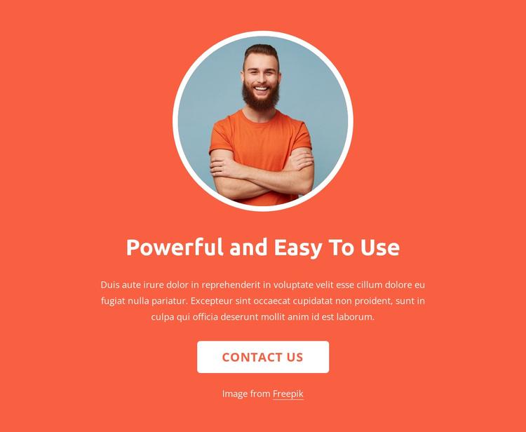 Strategy, design and development Joomla Template