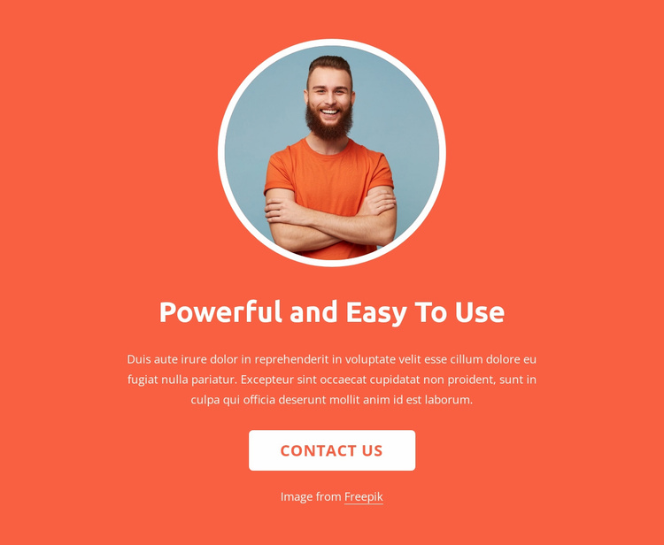 Strategy, design and development Website Template