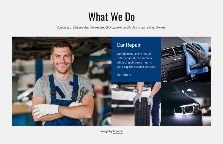Car Repair Services Joomla Page Builder