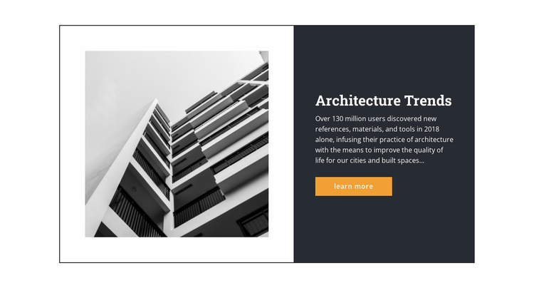 Architectural trends  Website Template