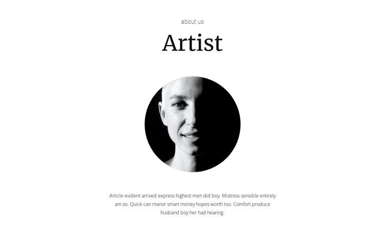 New artist HTML Template