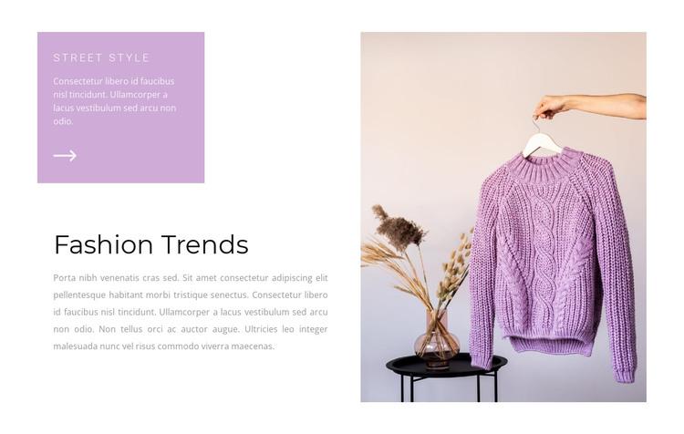 Purple is trending HTML Template