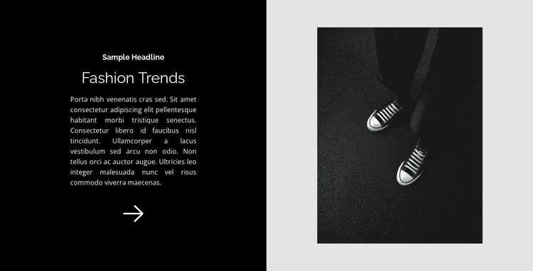 Sneakers are a classic HTML Template