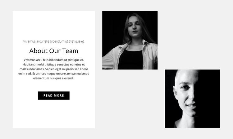 Team of girls HTML Template