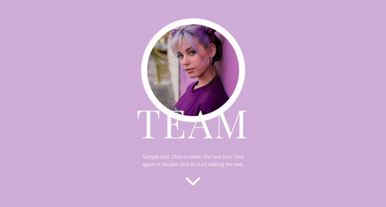 Fashion support team Website Template