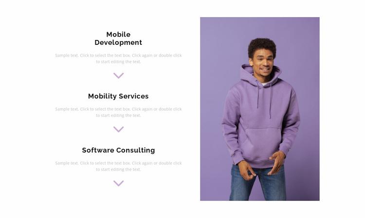 Three departments Website Template