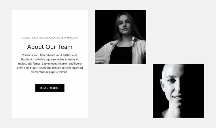 Team of girls Website Template