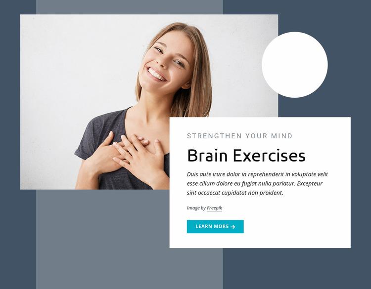Brain training Website Mockup