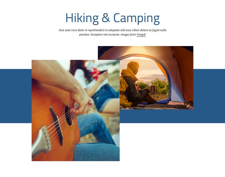 Hiking and camping Html Code Example