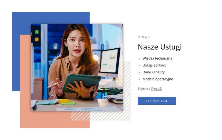 Usługi doradztwa analitycznego Szablon witryny sieci Web