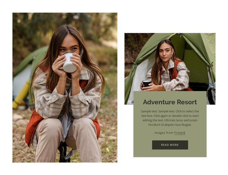 Adventure resort Web Page Design