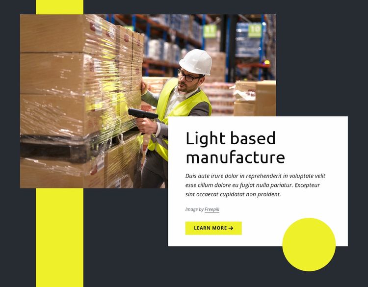 Warehouse and logistics Website Template