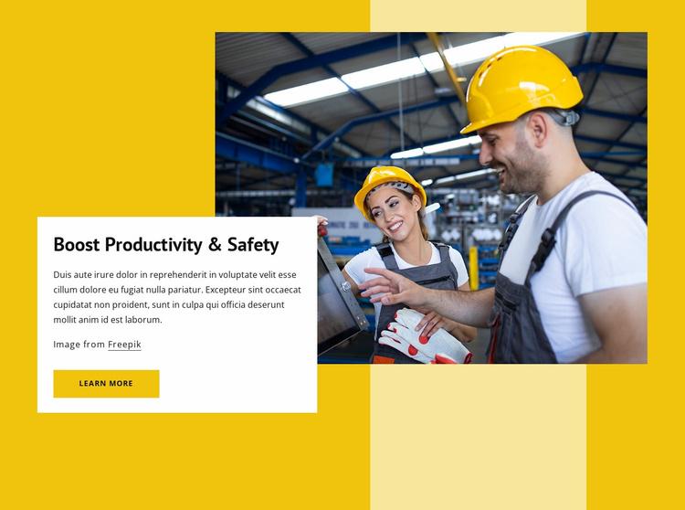 Boost productivity Website Template