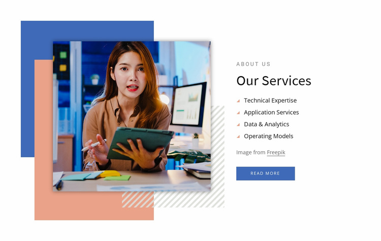 Analytical consulting services Website Template