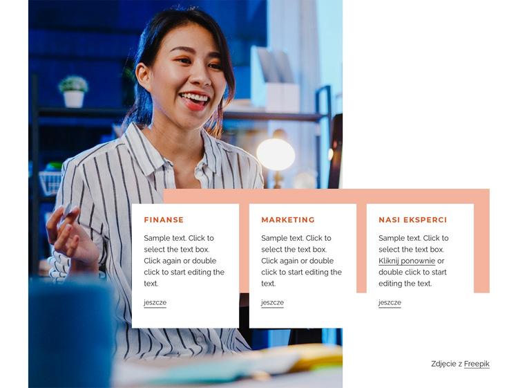 Strategia, projekt i treść Szablon witryny sieci Web