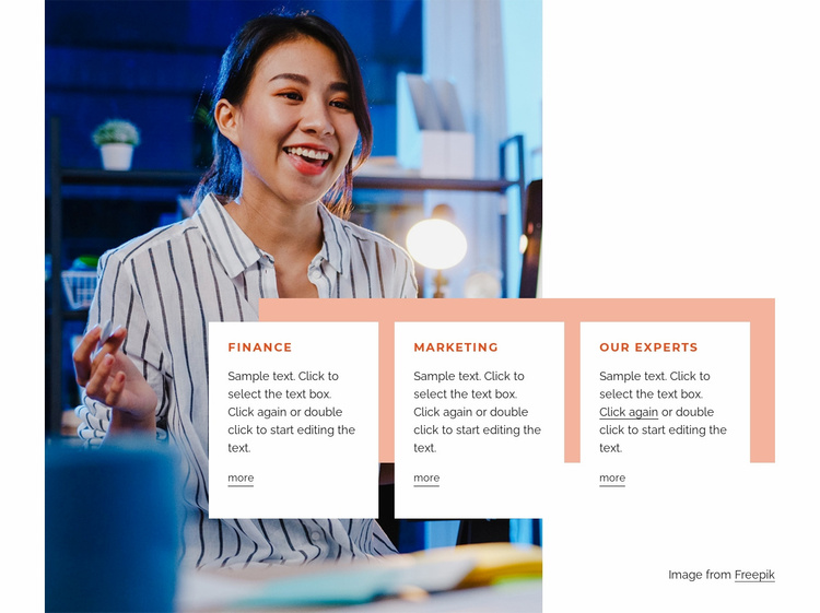 Strategy, design and content Website Template