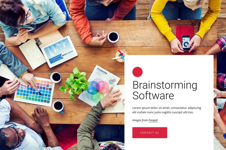 Brainstorming software HTML Template