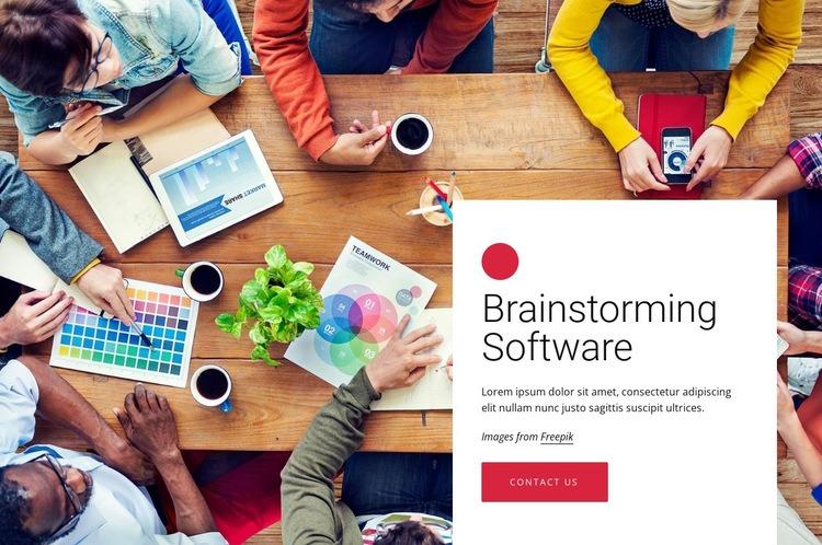 Brainstorming software Web Page Designer