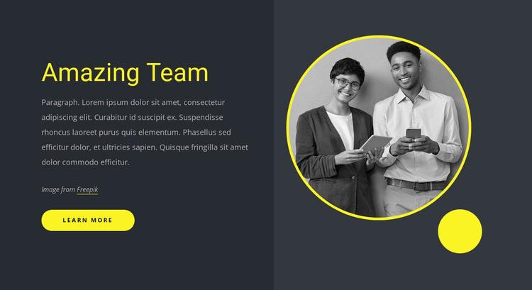 We make digital experiences Website Template