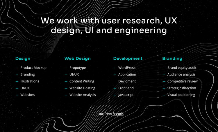 We work with user research HTML Template