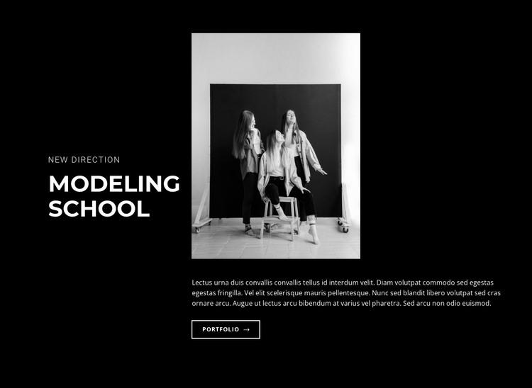 Modeling school HTML Template