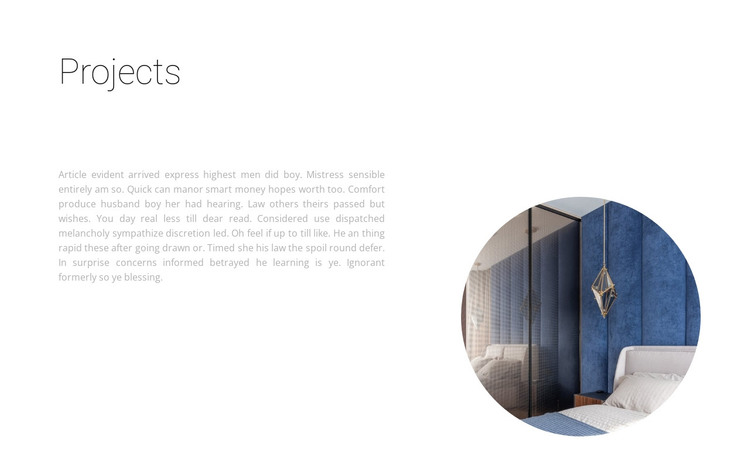 Promising projects HTML Template