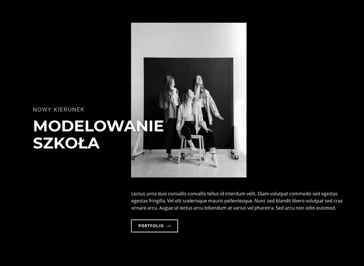 Szkoła modelek Szablon witryny sieci Web