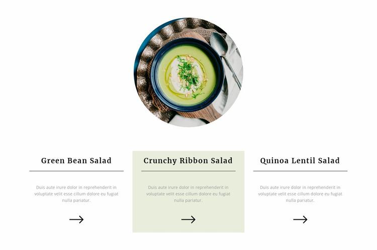 Healthy meals Website Mockup