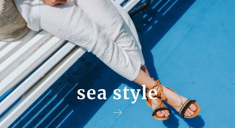 Sea style Website Mockup