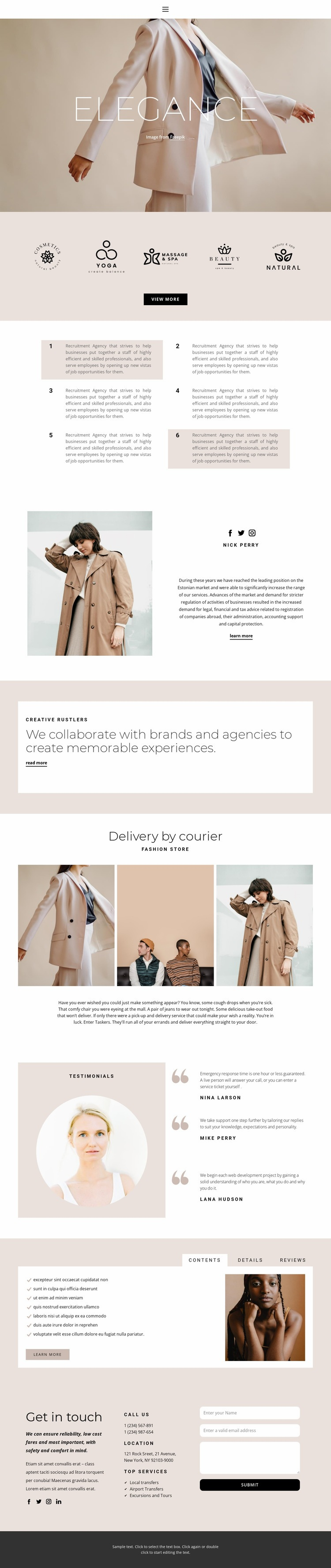 Elegance in fashion Html Code Example