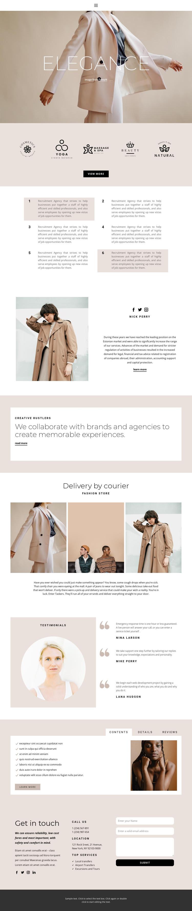 Elegance in fashion HTML Template