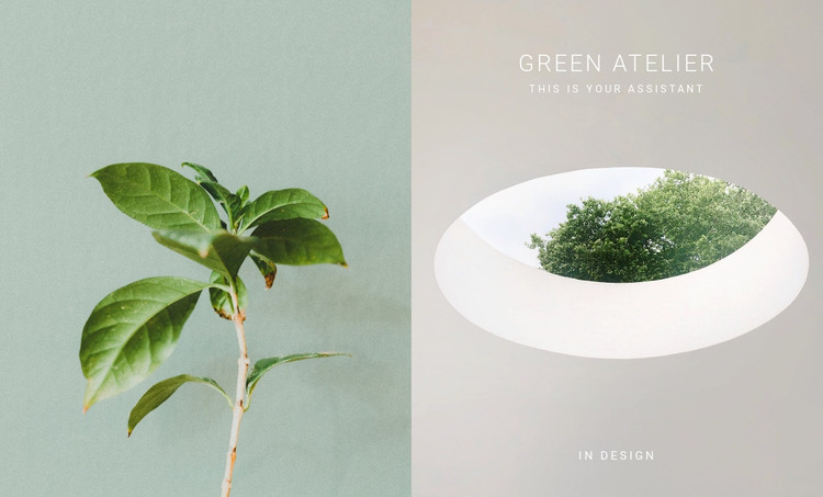 Eco green atelier HTML Template