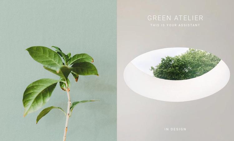 Eco green atelier Website Template