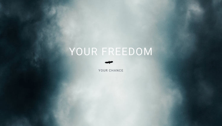 your freedom  Landing Page