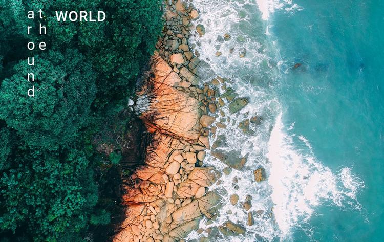Traveling around the world Web Design
