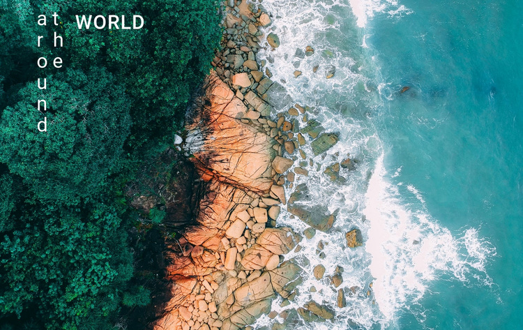 Traveling around the world Website Design